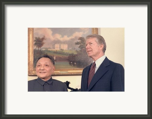 Deng Xiaoping And Jimmy Carter Framed Print By Everett