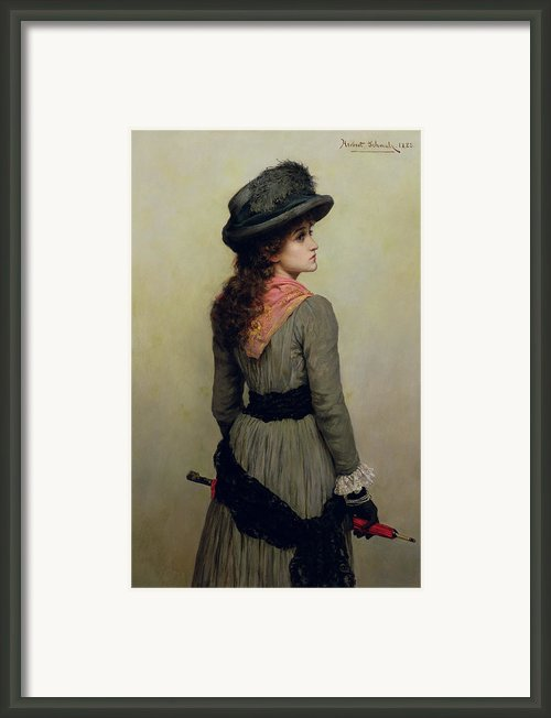 Denise Framed Print By Herbert Schmalz
