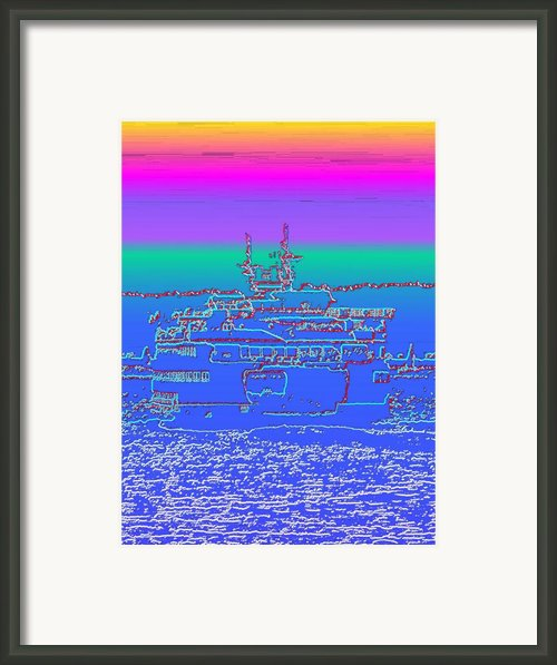 Departing Ferry Framed Print By Tim Allen