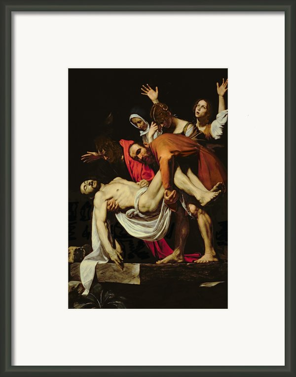 Deposition Framed Print By Michelangelo Merisi Da Caravaggio
