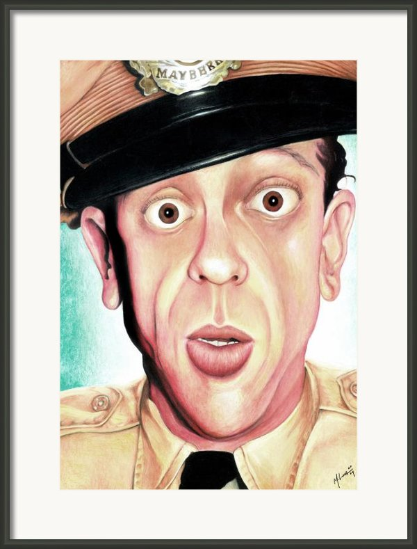 Deputy Of Mayberry Framed Print By Marvin  Luna