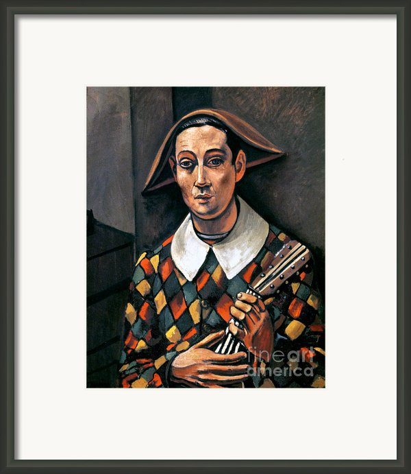 Derain: Harlequin, 1919 Framed Print By Granger