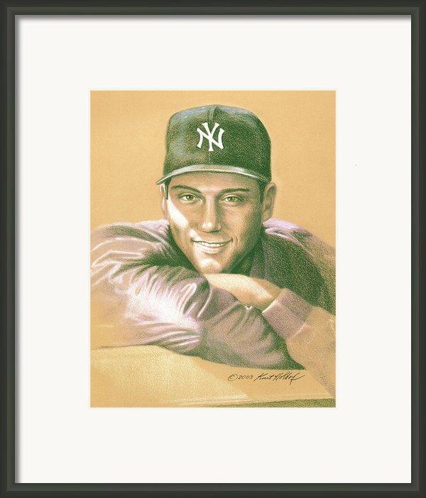 Derek Jeter Framed Print By Kurt Holdorf
