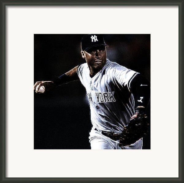 Derek Jeter Framed Print By Paul Ward