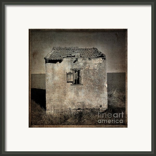 Derelict Hut  Textured Framed Print By Bernard Jaubert