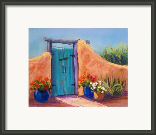 Desert Gate Framed Print By Candy Mayer