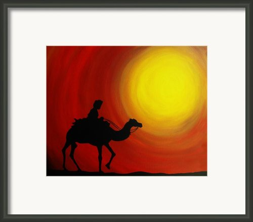 Desert King Framed Print By Ramneek Narang