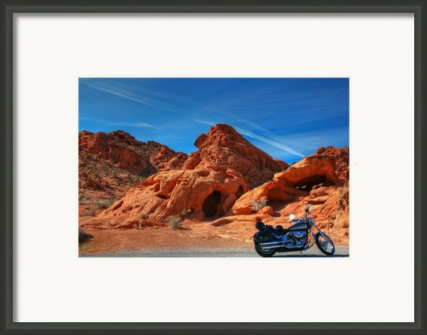 Desert Rider Framed Print By Charles Warren