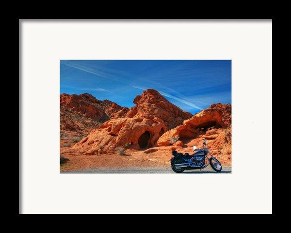 Desert Rider Framed Print By Charles Warren