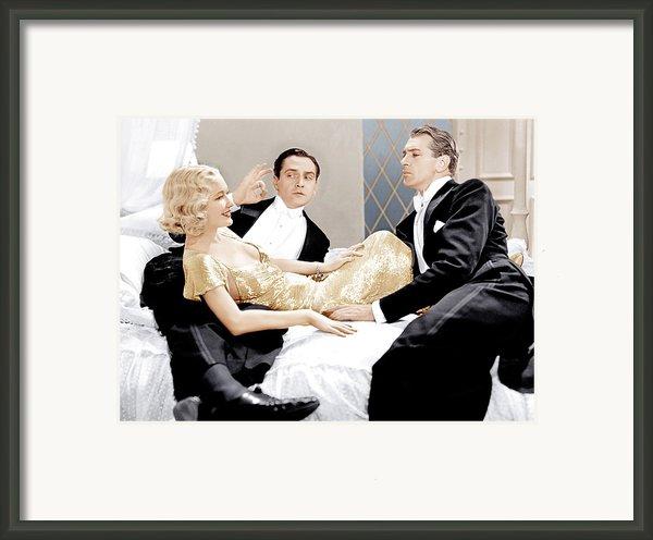 Design For Living, From Left Miriam Framed Print By Everett