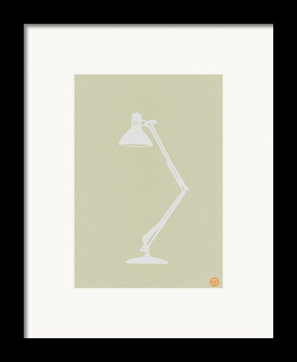 Desk Lamp Framed Print By Naxart Studio