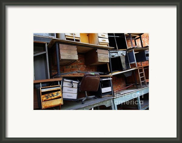 Desk Scrap Framed Print By Carlos Caetano