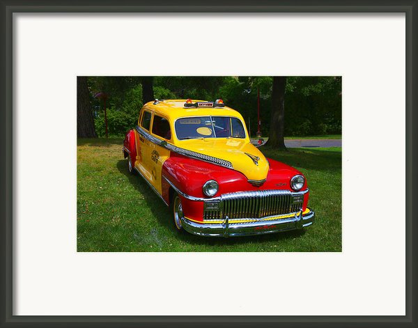 Desoto Skyview Taxi Framed Print By Garry Gay