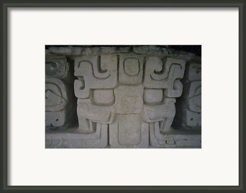 Detail Of A Stucco Frieze, Located Framed Print By Stephen Alvarez