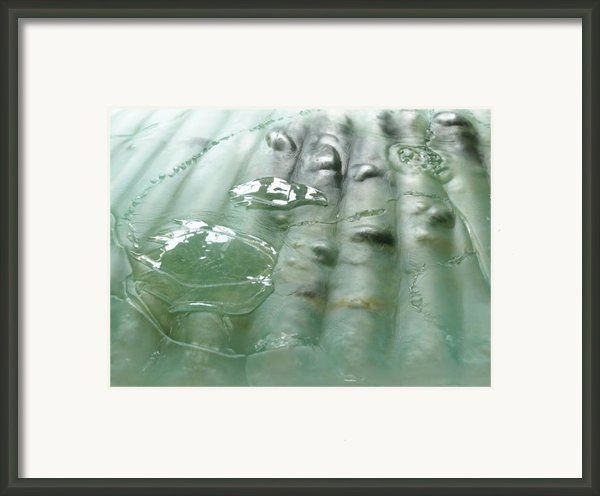 Detail Of The Forth River Meets The Sea Framed Print By Sarah King