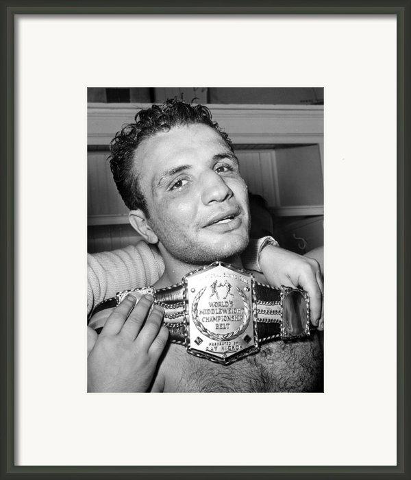 Detroit, Mich. Jake Lamotta Is Awarded Framed Print By Everett