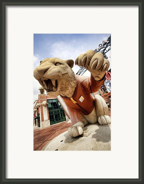 Detroit Tigers Tiger Statue Outside Of Comerica Park Detroit Michigan Framed Print By Gordon Dean Ii