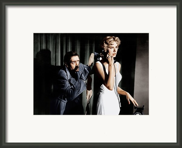 Dial M For Murder, From Left Anthony Framed Print By Everett