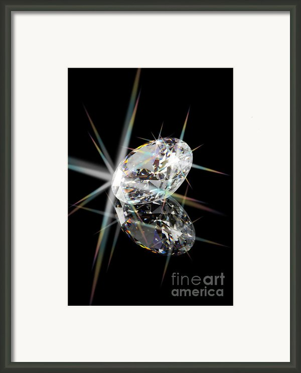 Diamond Framed Print By Atiketta Sangasaeng