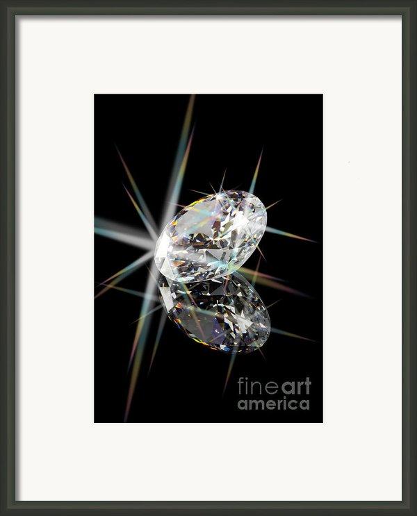Diamond Framed Print By Atiketta Sangasaeng