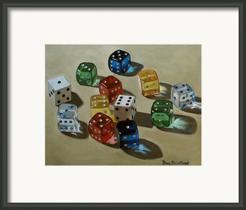 Dice Framed Print By Doug Strickland