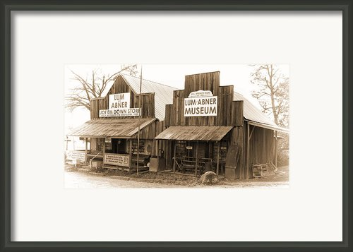 Dick Huddleston Store Est. 1909 Framed Print By Douglas Barnard