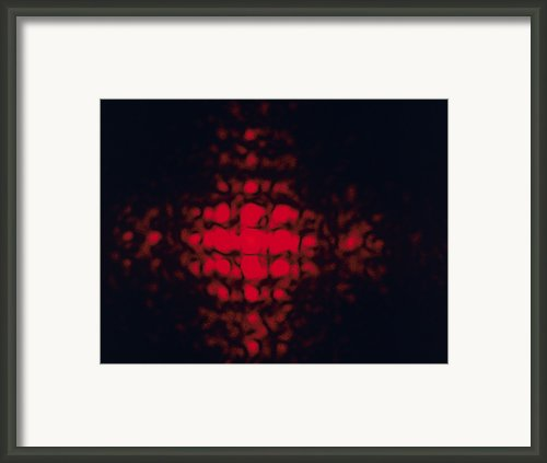 Diffraction Pattern Framed Print By Andrew Lambert Photography