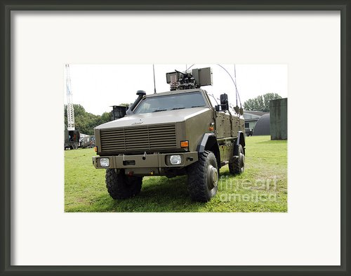 Dingo Ii Vehicle Of The Belgian Army Framed Print By Luc De Jaeger