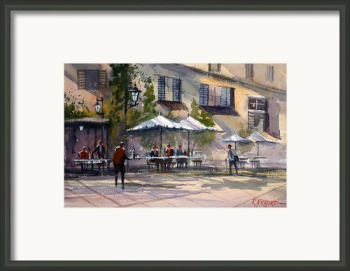 Dining Alfresco Framed Print By Ryan Radke