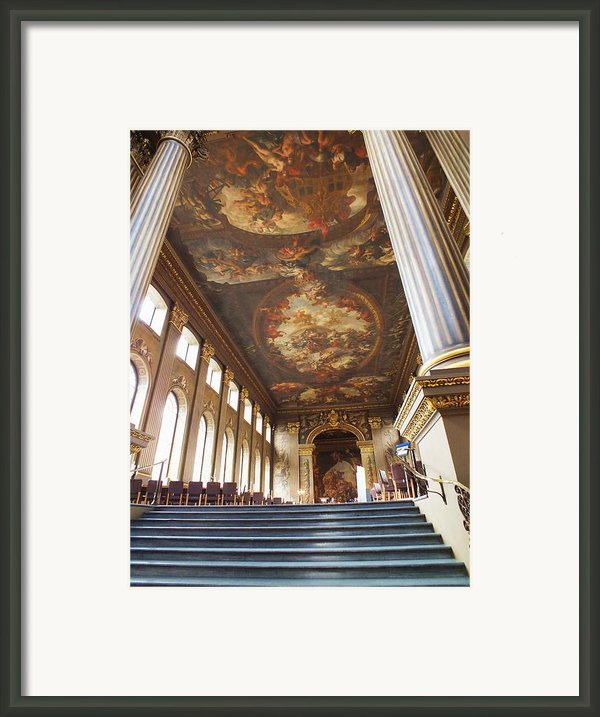 Dining Hall At Royal Naval College Framed Print By Anna Villarreal Garbis