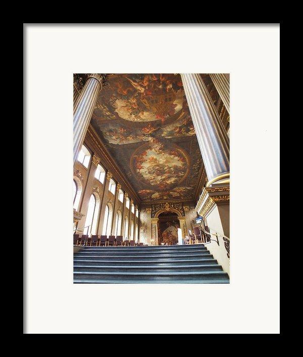 Dining Hall At Royal Naval College Framed Print By Anna Villarreal Garbis