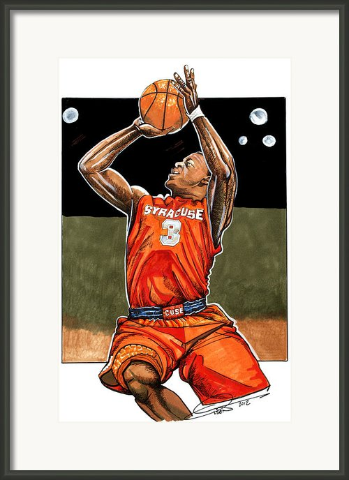 Dion Waiters Framed Print By Dave Olsen
