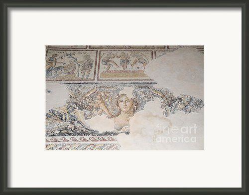 Dionysus Mosaic Mona Lisa Of The Galilee Framed Print By Ilan Rosen