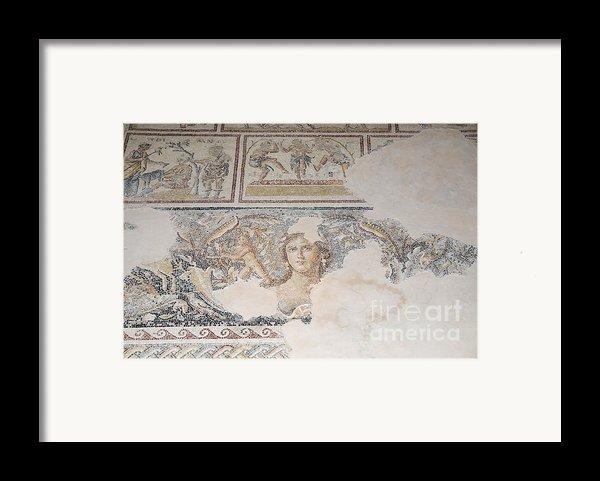 Dionysus Mosaic Mona Lisa Of The Galilee Framed Print By Ilan Rosen