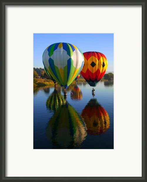 Dipping The Basket Framed Print By Mike  Dawson