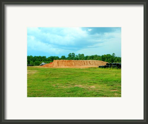 Dirt Hill  Framed Print By Ester  Rogers