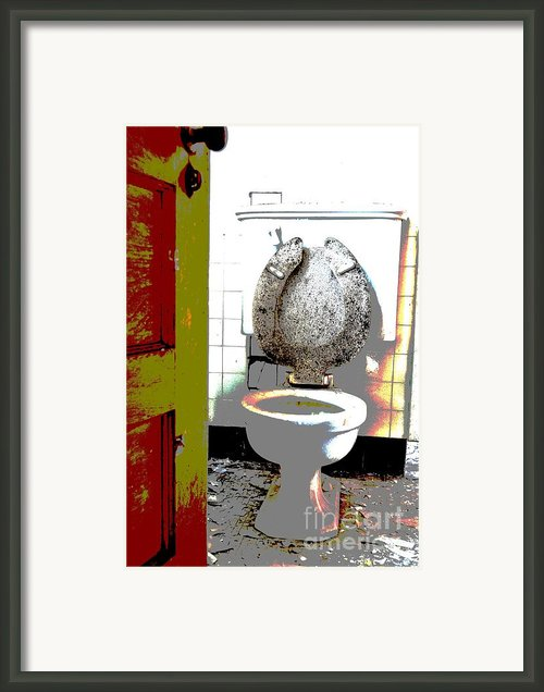 Dirty Seat Framed Print By Luke Moore