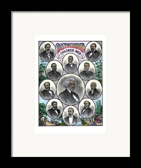 Distinguished Colored Men Framed Print By War Is Hell Store