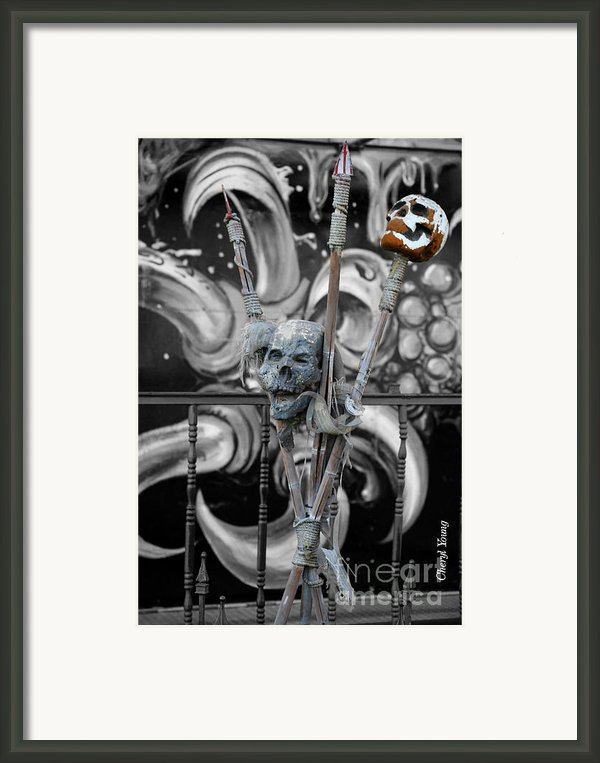 Disturbing Framed Print By Cheryl Young