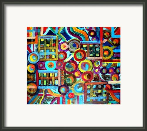 Disunited Clock Framed Print By Aquira Kusume