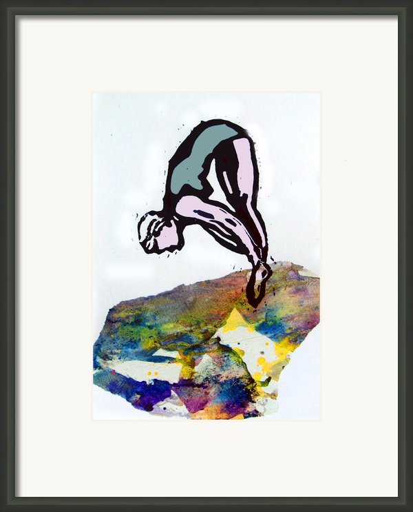 Dive - Evening Pool Framed Print By Adam Kissel