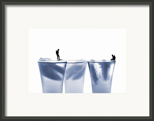 Diving In Ice Water Framed Print By Paul Ge