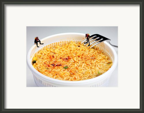Diving In Noodle Soup Framed Print By Paul Ge