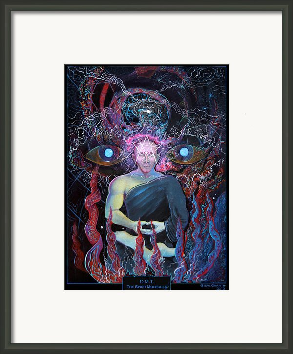 Dmt - The Spirit Molecule Framed Print By Steve Griffith
