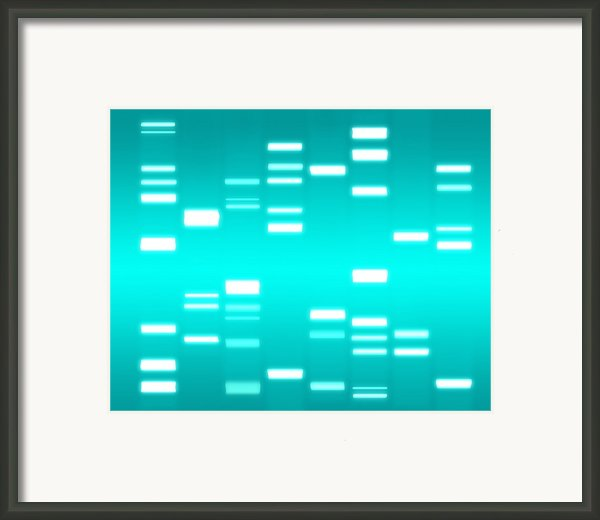 Dna Cyan Framed Print By Michael Tompsett