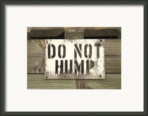 Do Not Hump Framed Print By Mike Mcglothlen