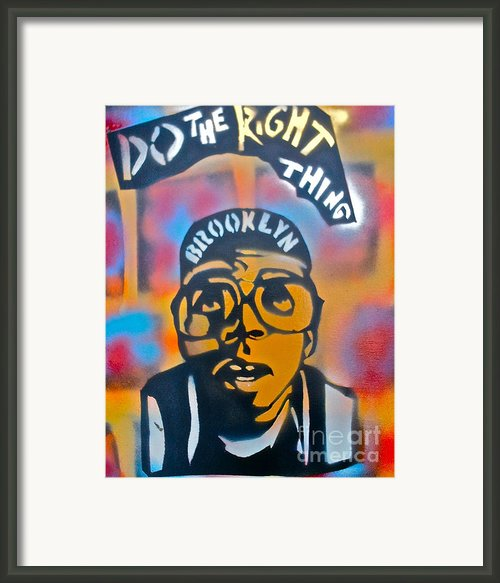 Do The Right Thing Framed Print By Tony B Conscious