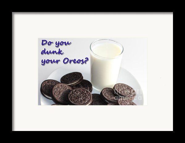 Do You Dunk Your Oreos Framed Print By Barbara Griffin