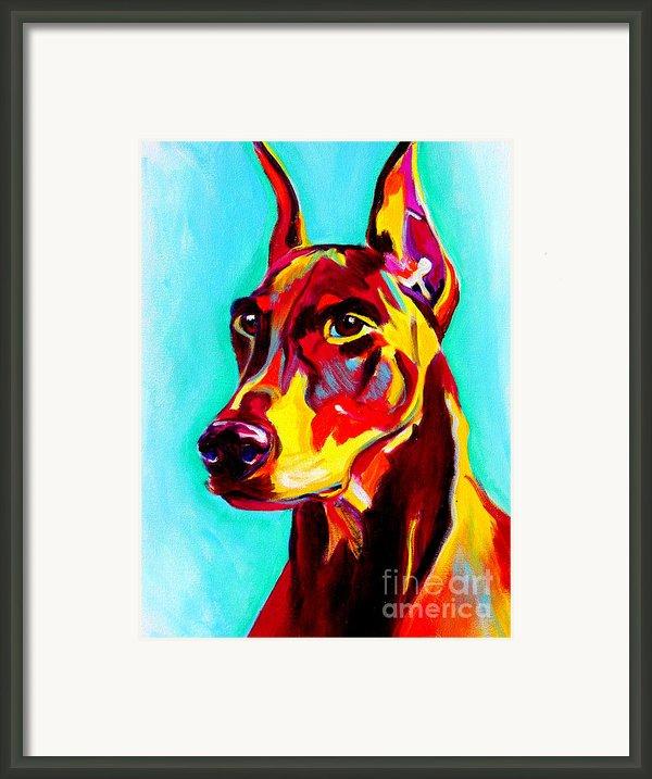 Doberman - Prince Framed Print By Alicia Vannoy Call
