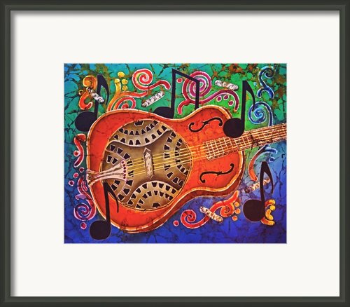 Dobro - Slide Guitar Framed Print By Sue Duda